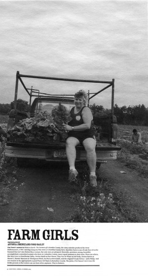 Featured photo in article about farming women in Our Town
