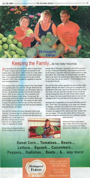 Feature article in the Columbia Insider July 30, 2009